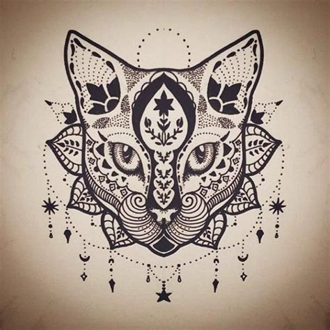 tattoo trends mandala cat tattoo design tattooviral