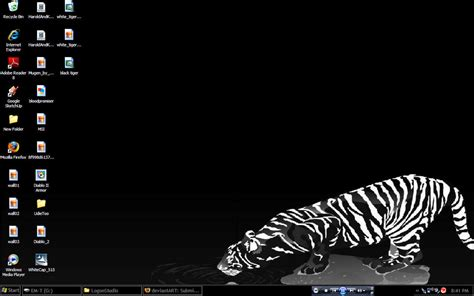 themes gods black tiger for win xp themes for pc
