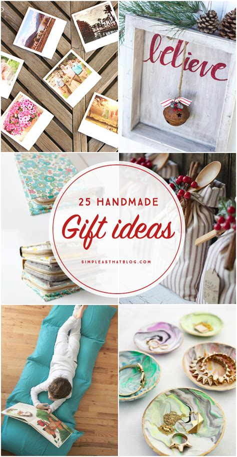 Handmade Gifts From - 25 handmade gift ideas
