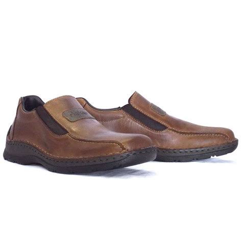 slip on shoes rieker noel 05364 26 mens slip on shoe in brown leather