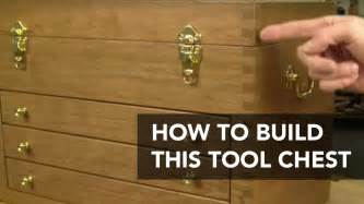 build  classic tool chest wood toolbox project plan