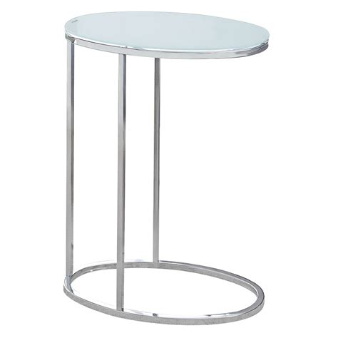 oval accent tables prescott modern frosted glass oval accent table eurway