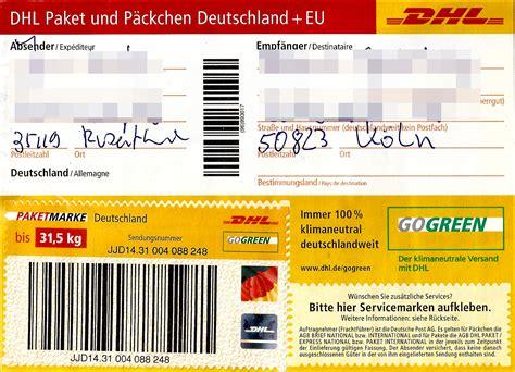Paketaufkleber Drucken Vorlage dhl paketaufkleber