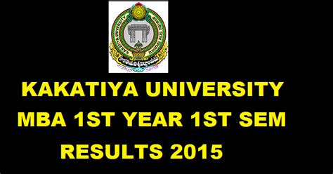 Ku Mba by Ku Mba 1st Year 1st Sem Feb Results 2015 For Revaluation