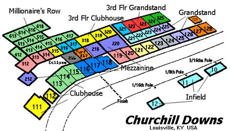 churchill downs seating views detailed seating chart for churchill downs brokeasshome