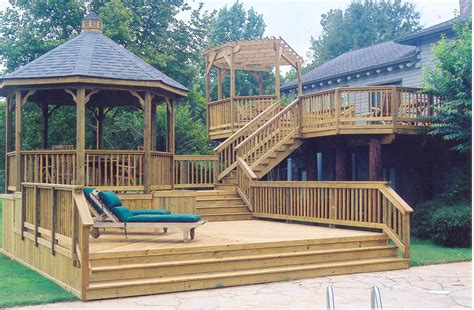 gazebo deck pergolas st louis decks screened porches pergolas by