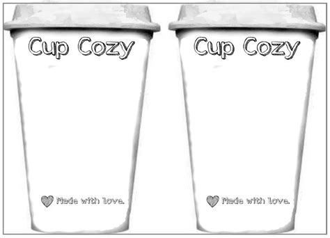 coffee rewards card template template printout for cups used for displaying cup cozies