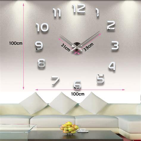 Clock Wall Stickers grande horloge murale