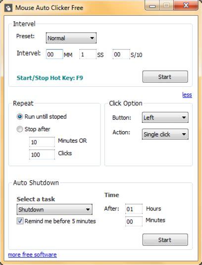 Auto Click 3 0 by Auto Shutdown Free
