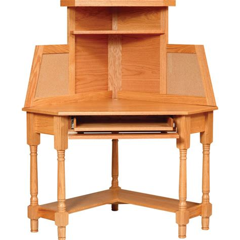 corner desk hutch corner desk with hutch amish crafted furniture