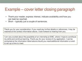 Closing Letter Application Cover Letter Closing Paragraph Exles The Letter Sle