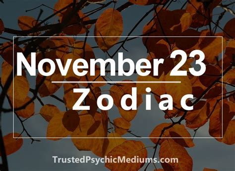image gallery november 23 zodiac sign