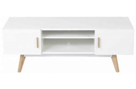 meuble tv bois blanc pas cher meuble tv blanc plaqu 233 bois t 233 odora meuble tv pas cher