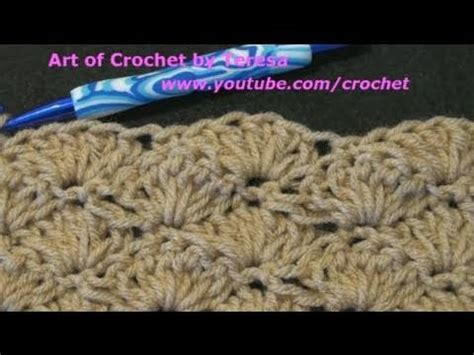 shell pattern crochet youtube how to make the crochet shell stitch left hand version