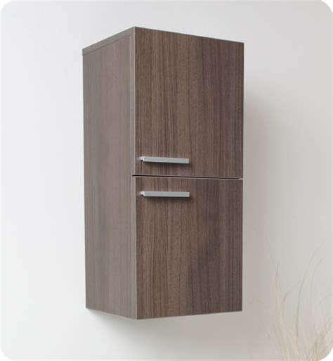 Oak Bathroom Cabinets Storage 12 5 Quot Fresca Fst8091go Gray Oak Bathroom Linen Side Cabinet W 2 Storage Areas Side