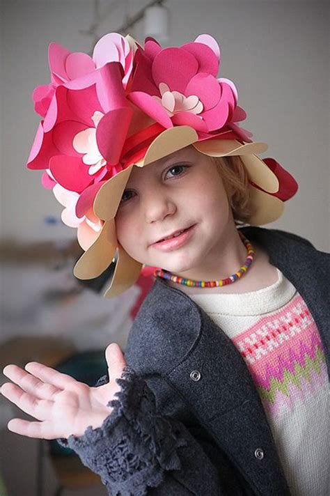 How To Make Paper Hats For Adults - diy floral paper hat for from handmade