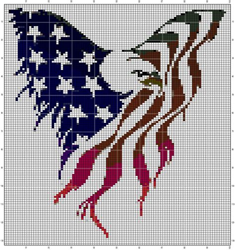 Eagle Cross Black american eagle graph pattern by buccies on etsy 1 99