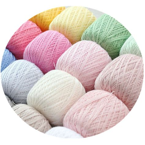 how to knit in a new of yarn 50g 8 100 cotton lace yarn knitting yarn threads to knit