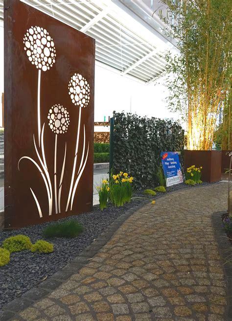 Gartentor Mit Holzfüllung by Einzigartig Garten Sichtschutz Blech Design Ideen