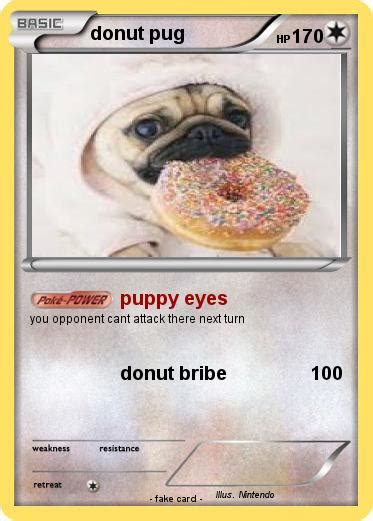 donut pug pok 233 mon donut pug 2 2 puppy my card