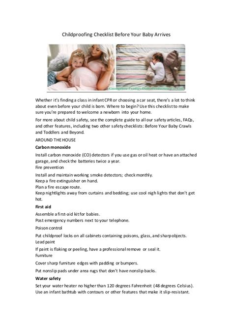 childproofing your home checklist childproofing checklist before your baby arrives