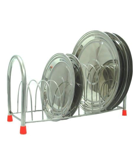 rbj stainless steel plate rack stand pipe mirror finish