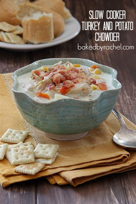 cooker leftover turkey recipes cooker turkey and potato chowder baked by