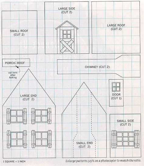 pattern for small gingerbread house 17 images about gingerbread house patterns on pinterest