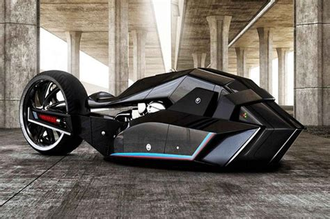 Bmw Motor Cycles Bmw Titan Concept Is Motorcycle That Belongs To The Batcave