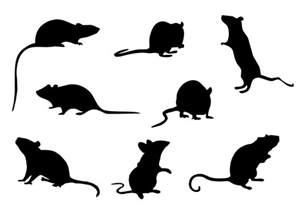 mouse silhouette template free mice silhouette vector free vector