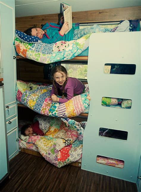 Travel Bunk Beds Bunk In The Trailerv Conversion Pinterest Built In Bunks Buses And Cers