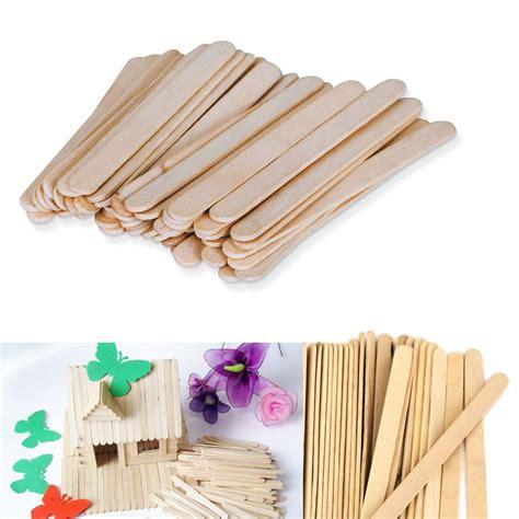 popsicle sticks 200 pcs wood popsicle sticks wooden craft wax