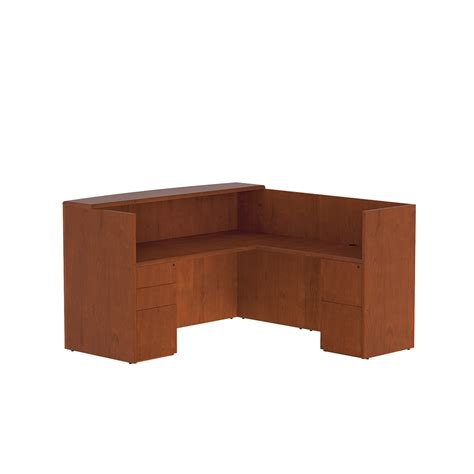 office furniture closeout r122 ruby veneer reception desk by cherryman closeout