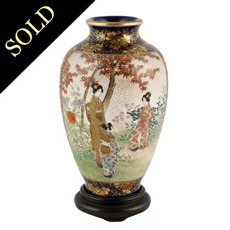 Satsuma Vase by Antique Japanese Vase Satsuma Pottery Vase
