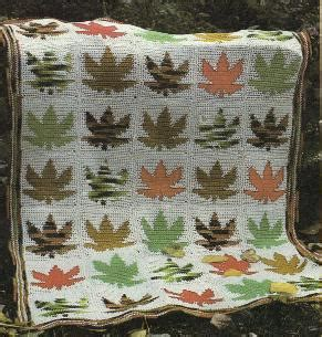 leaf pattern afghan more autumn leaves and leaf designs to crochet free