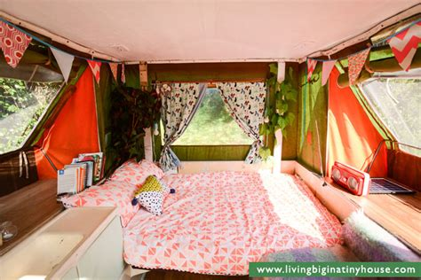 Tiny Galley Kitchen Design Ideas City Living In A Pop Top Camper Living Big In A Tiny House