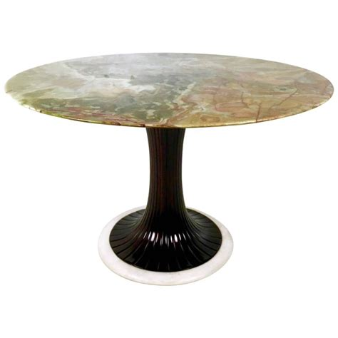 Onyx Dining Table Pedestal Dining Table With Onyx Top By Osvaldo Borsani 1950s At 1stdibs