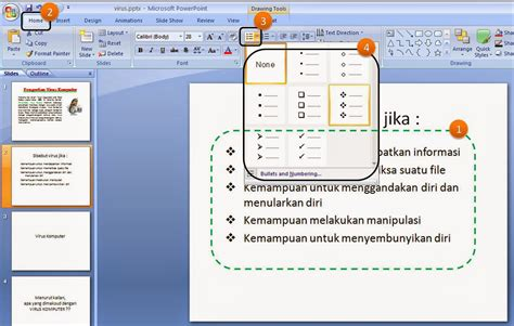 Format Membuat Power Point | cara membuat format bullets di presentasi powerpoint