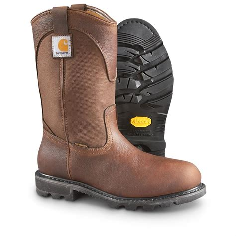 mens carhartt boots s carhartt rugged flex soft toe boots brown 593018