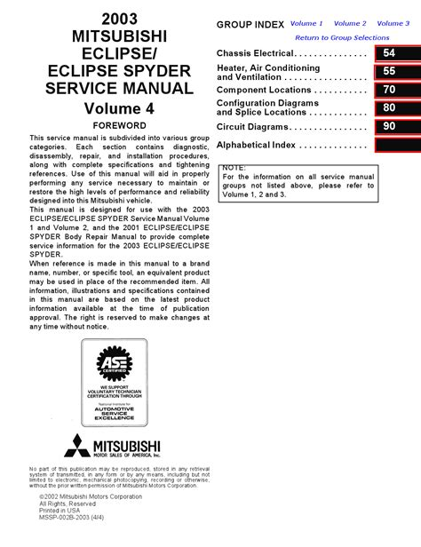 free service manuals online 2000 mitsubishi eclipse transmission control service manual work repair manual 2004 mitsubishi eclipse service manual work repair manual