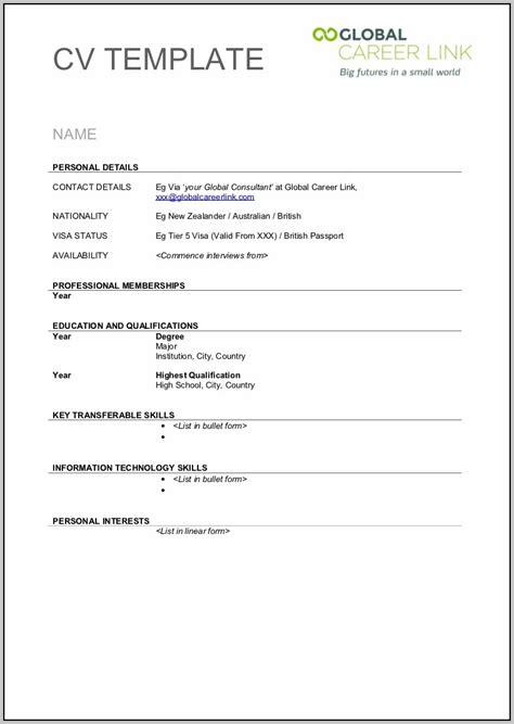 Blank Resume Templates Pdf by Blank Resume Template Pdf Resume Template Easy Http