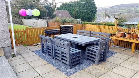 patio furniture with pallets how to organize a patio with pallets