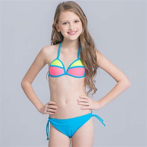 Candy Patchwork Teen Girl Bikini Tianex