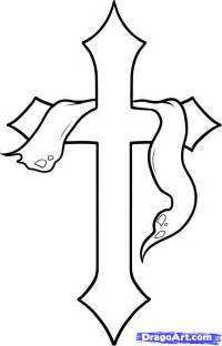 How To Draw A How To Draw A Cross Cross Step By Step Stuff Pop