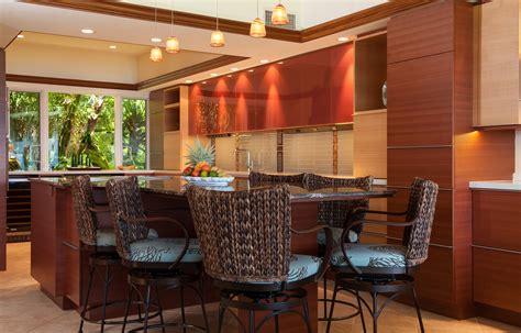 interior design hawaiian style screet and hidden room behind wood toy storage cabinet