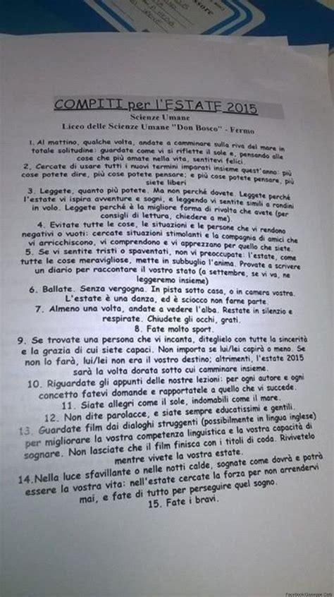 testo d estate gli originali compiti estivi di un professore roba da donne