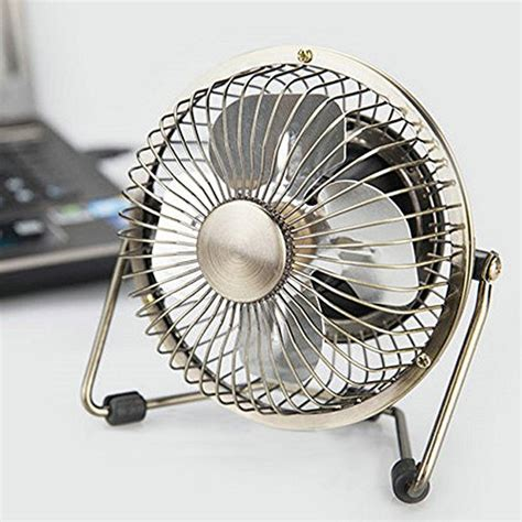 Edating Usb Desk Fan Powerful Airflow Electrocoppering Small Desk Fan