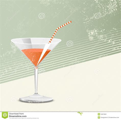 retro cocktail cocktail glass retro style stock image image 34872661