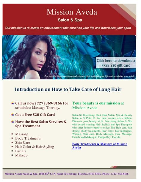 Aveda Salon Gift Card - free usd 20 gift card on hair services at mission aveda salon st pete