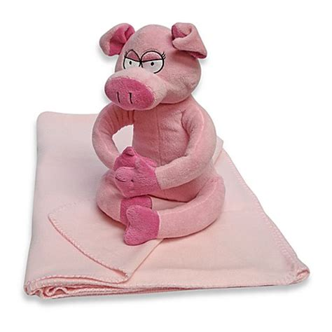 Pig Blankets For Sale by Stuffed Pig With Huggable Fleece Blanket Buybuy Baby